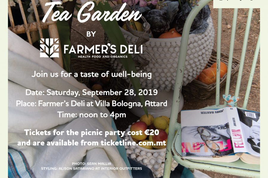 The Pink Tea Garden at Farmer's Deli, Villa Bologna